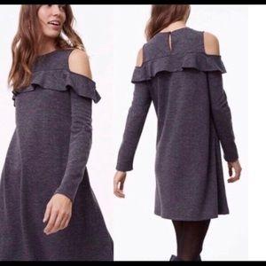 🆕 Loft Cold Shoulder Ruffle Dress NWT